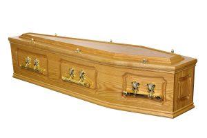 Solid Oak Coffin